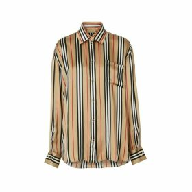 Burberry Icon Stripe Silk Shirt