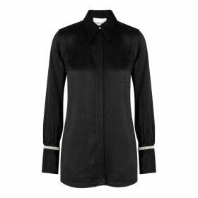 3.1 Phillip Lim Black Embellished Satin Shirt