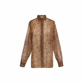 Gerard Darel Loose-fitting Animal-printed Mea Shirt