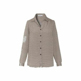 Gerard Darel Crepe Marlon Shirt With All-over Printed Hearts