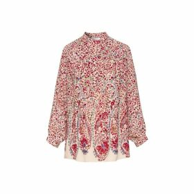 Gerard Darel Margot Blouse In Floral-printed Crepe