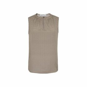 Gerard Darel Sleeveless Printed-silk Manille Top