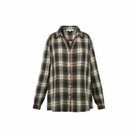 Gerard Darel Crinkle Cotton Checked Moon Shirt