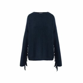 Gerard Darel Cashmere Sahel Sweater With Fringe