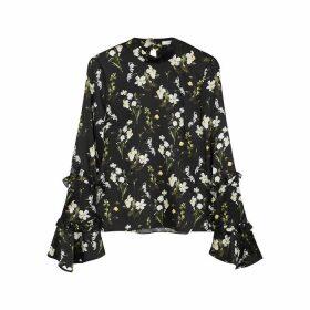 Erdem Louella Floral-print Silk Blouse
