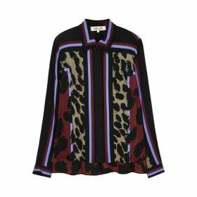 Diane Von Furstenberg Mai Leopard-print Stretch-silk Shirt