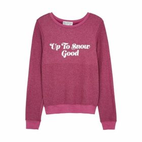 Wildfox Snow Good Brushed Jersey Sweatshirt