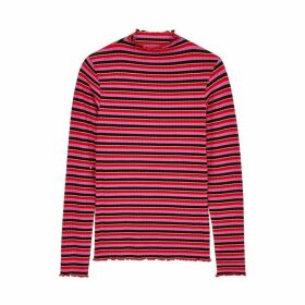 Mads Nørgaard Trutte Striped Stretch-jersey Top