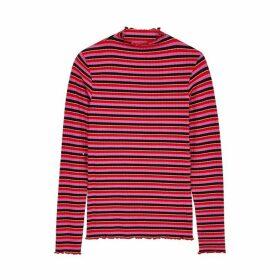 Mads Nørgaard Trutte Striped Stretch-jersey Top