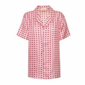 Lisou Victoire Unisex Pink Lip Print Shirt