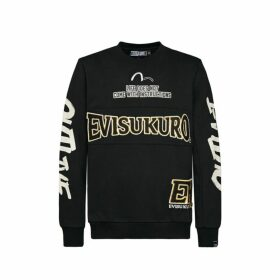 Evisu Varsity Applique Sweatshirt