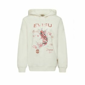 Evisu Hooded Sweatshirt With Carp And Sakura Print