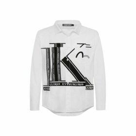 Evisu Deconstructed Initial Print Shirt