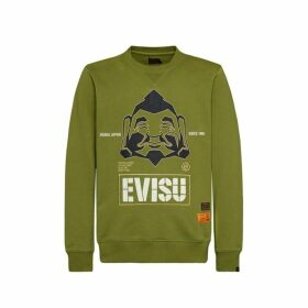 Evisu Sweatshirt With Godhead Appliqu And Logo Embroidery
