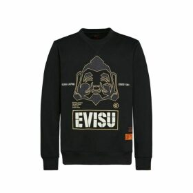 Evisu Sweatshirt With Godhead Appliqu And Logo Embroidery