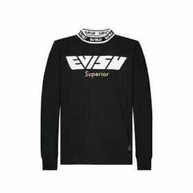 Evisu Long-sleeved T-shirt With Gradient Daicock Print