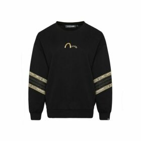 Evisu Labyrinth And Lace Stripe Sweatshirt