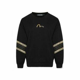 Evisu Labyrinth And Lace Stripe Sweatshirt