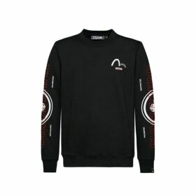 Evisu Kamon And Vertical Logo Print Sweatshirt