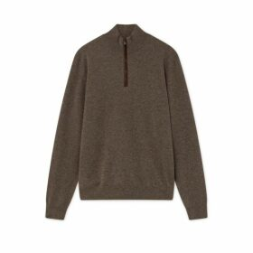 Hackett Cashmere Half Zip Sweater