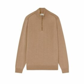 Hackett Wool And Cashmere Half Zip Sweater