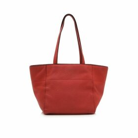 Prada Red Vitello Daino Shopping Bag