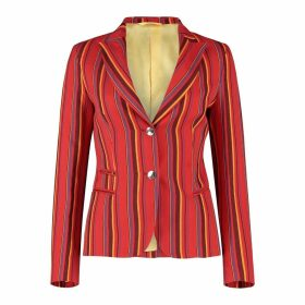 KOY Clothing - Ladies Red Striped Mara Jacket