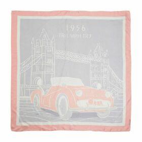 Delali - Luxury Twill Silk 1956 Triumph TR3 Scarf