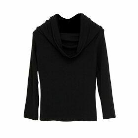 Doyi Park - Cowl Off Shoulder Knit Top Black