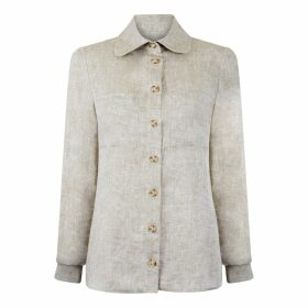 esfera. - Sustainable Pleated Crop Top In Natural