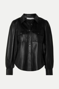 FRAME - Leather Shirt - Black