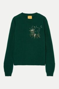 Le Lion - Leo Embellished Embroidered Wool Sweater - Green