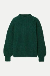 Anine Bing - Jolie Ribbed-knit Sweater - Forest green