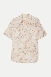 Zimmermann - Super Eight Printed Ramie Shirt - Ecru