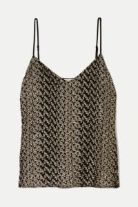 Equipment - Layla Metallic Fil Coupé Silk-blend Camisole - Black