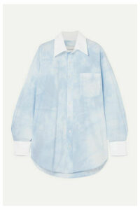 Matthew Adams Dolan - Oversized Tie-dyed Cotton-blend Poplin Shirt - Blue