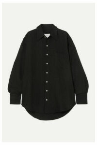 Matthew Adams Dolan - Oversized Satin-jacquard Shirt - Black