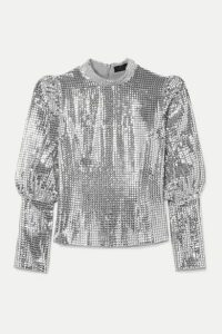 De La Vali - Jane Sequined Crepe Top - Stone
