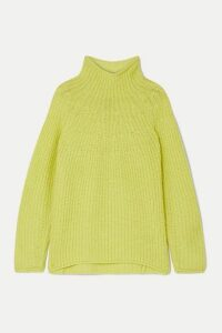 rag & bone - Joseph Ribbed-knit Turtleneck Sweater - Chartreuse