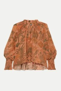 Chufy - Colca Ruffled Printed Voile Blouse - Orange