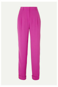 Esteban Cortázar - Striped Crepe Straight-leg Pants - Pink