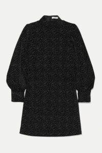 Bella Freud - Valley Of The Dolls Glittered Cotton-velvet Mini Dress - Black