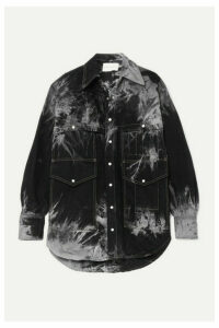Matthew Adams Dolan - Oversized Tie-dyed Denim Shirt - Black