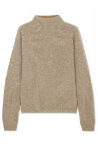 Deveaux - Ribbed Cashmere Sweater - Neutral