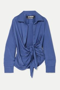 Jacquemus - Knotted Twill Shirt - Blue