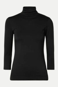 L'Agence - Aja Stretch-jersey Turtleneck Top - Black