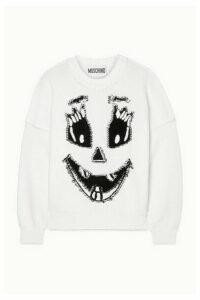 Moschino - Intarsia Cotton Sweater - White