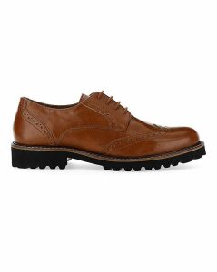 Abitha Chunky Sole Brogue Extra Wide Fit