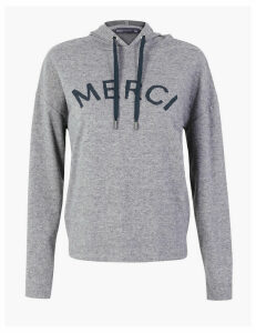 M&S Collection Merci Slogan Hoodie