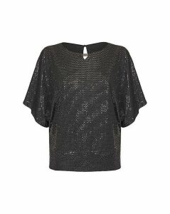Yumi Curves Relaxed Sequin Party Top